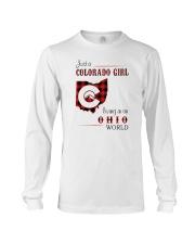 COLORADO GIRL LIVING IN OHIO WORLD Long Sleeve Tee thumbnail