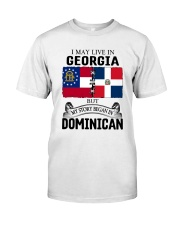 LIVE IN GEORGIA BEGAN IN DOMINICAN ROOT WOMEN Classic T-Shirt tile