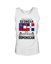 LIVE IN GEORGIA BEGAN IN DOMINICAN ROOT WOMEN Unisex Tank thumbnail