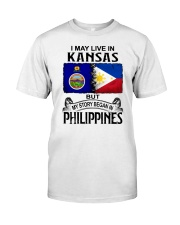 LIVE IN KANSAS BEGAN IN PHILIPPINES Classic T-Shirt tile