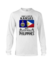 LIVE IN KANSAS BEGAN IN PHILIPPINES Long Sleeve Tee thumbnail