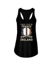 LIVE IN FRANCE MY STORY IN IRELAND Ladies Flowy Tank tile
