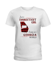 CONNECTICUT GIRL LIVING IN GEORGIA WORLD Ladies T-Shirt thumbnail