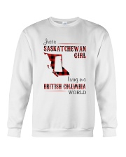 SASKATCHEWAN GIRL LIVING IN BC WORLD Crewneck Sweatshirt thumbnail