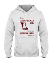 SASKATCHEWAN GIRL LIVING IN BC WORLD Hooded Sweatshirt thumbnail