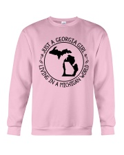 GEORGIA GIRL LIVING IN MICHIGAN WORLD Crewneck Sweatshirt thumbnail