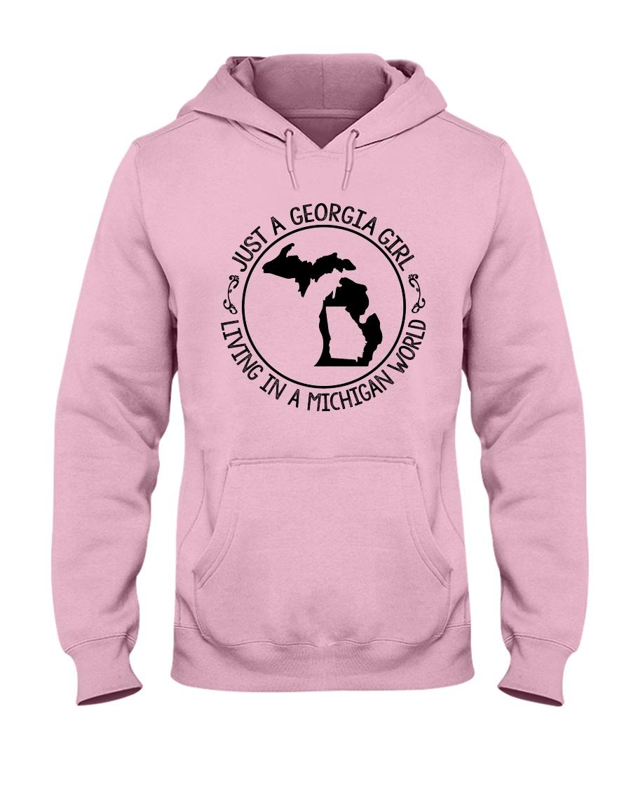 GEORGIA GIRL LIVING IN MICHIGAN WORLD Hooded Sweatshirt