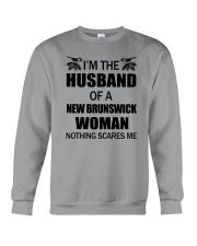 I'M THE HUSBAND OF A NEW BRUNSWICK WOMAN Crewneck Sweatshirt thumbnail