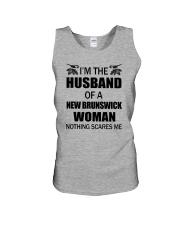 I'M THE HUSBAND OF A NEW BRUNSWICK WOMAN Unisex Tank thumbnail