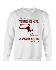 TENNESSEE GIRL LIVING IN MASSACHUSETTS WORLD Crewneck Sweatshirt thumbnail