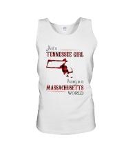 TENNESSEE GIRL LIVING IN MASSACHUSETTS WORLD Unisex Tank thumbnail