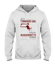 TENNESSEE GIRL LIVING IN MASSACHUSETTS WORLD Hooded Sweatshirt thumbnail