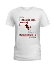TENNESSEE GIRL LIVING IN MASSACHUSETTS WORLD Ladies T-Shirt thumbnail