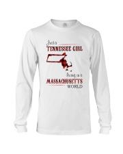 TENNESSEE GIRL LIVING IN MASSACHUSETTS WORLD Long Sleeve Tee thumbnail