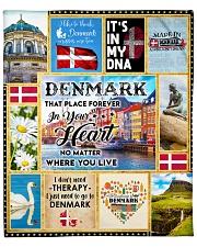"DENMARK IT'S IN MY DNA Fleece Blanket - 50"" x 60"" thumbnail"