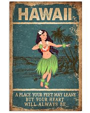 HAWAII FEET LEAVE HEART ALWAYS BE 24x36 Poster front