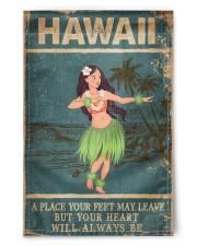 "HAWAII FEET LEAVE HEART ALWAYS BE 11.5""x17.5"" Garden Flag thumbnail"