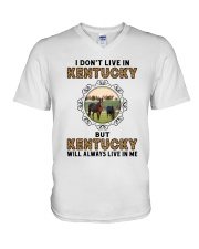 KENTUCKY WILL ALWAYS LIVE IN ME V-Neck T-Shirt thumbnail
