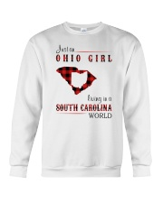 OHIO GIRL LIVING IN SOUTH CAROLINA WORLD Crewneck Sweatshirt thumbnail