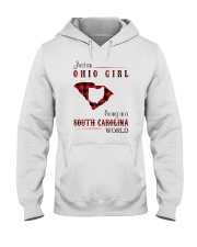 OHIO GIRL LIVING IN SOUTH CAROLINA WORLD Hooded Sweatshirt thumbnail