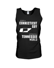 JUST A CONNECTICUT GUY LIVING IN TENNESSEE WORLD Unisex Tank thumbnail