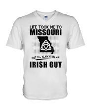 IRISH GUY LIFE TOOK TO MISSOURI V-Neck T-Shirt thumbnail