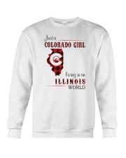 COLORADO GIRL LIVING IN ILLINOIS WORLD Crewneck Sweatshirt thumbnail