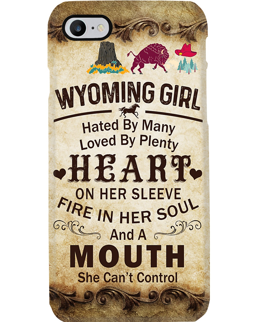 WYOMING GIRL A MOUTH SHE CAN'T CONTROL Phone Case