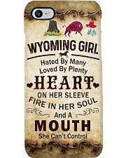 WYOMING GIRL A MOUTH SHE CAN'T CONTROL Phone Case i-phone-7-case
