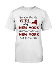 YOU CAN'T TAKE NEW YORK OUT OF THIS  GIRL Classic T-Shirt thumbnail