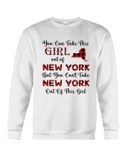 YOU CAN'T TAKE NEW YORK OUT OF THIS  GIRL Crewneck Sweatshirt thumbnail