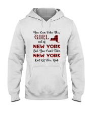 YOU CAN'T TAKE NEW YORK OUT OF THIS  GIRL Hooded Sweatshirt thumbnail