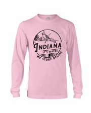 INDIANA IT'S WHERE MY STORY BEGINS Long Sleeve Tee thumbnail
