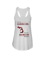ALABAMA GIRL LIVING IN MICHIGAN WORLD Ladies Flowy Tank thumbnail