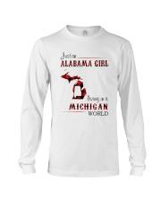 ALABAMA GIRL LIVING IN MICHIGAN WORLD Long Sleeve Tee thumbnail