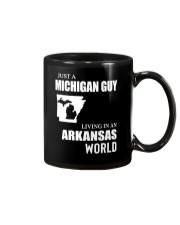 JUST A MICHIGAN GUY LIVING IN ARKANSAS WORLD Mug thumbnail