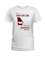 MONTANA GIRL LIVING IN GEORGIA WORLD Ladies T-Shirt thumbnail