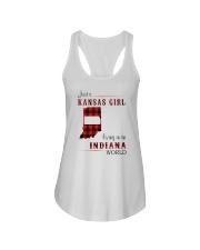 KANSAS GIRL LIVING IN INDIANA WORLD Ladies Flowy Tank thumbnail