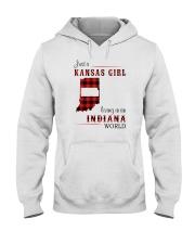 KANSAS GIRL LIVING IN INDIANA WORLD Hooded Sweatshirt thumbnail