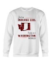 INDIANA GIRL LIVING IN WASHINGTON WORLD Crewneck Sweatshirt thumbnail