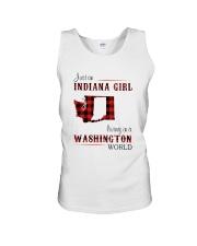 INDIANA GIRL LIVING IN WASHINGTON WORLD Unisex Tank thumbnail