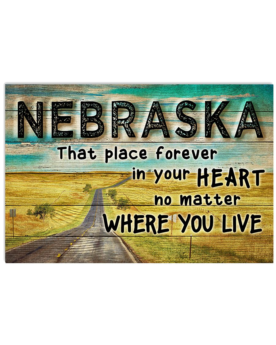NEBRASKA THAT PLACE FOREVER IN YOUR HEART 17x11 Poster