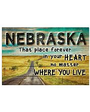 NEBRASKA THAT PLACE FOREVER IN YOUR HEART 17x11 Poster front
