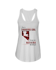 LOUISIANA GIRL LIVING IN NEVADA WORLD Ladies Flowy Tank thumbnail