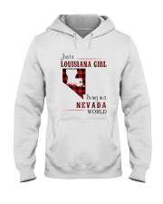LOUISIANA GIRL LIVING IN NEVADA WORLD Hooded Sweatshirt thumbnail