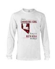 LOUISIANA GIRL LIVING IN NEVADA WORLD Long Sleeve Tee thumbnail