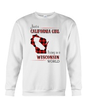 CALIFORNIA GIRL LIVING IN WISCONSIN WORLD Crewneck Sweatshirt thumbnail