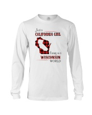 CALIFORNIA GIRL LIVING IN WISCONSIN WORLD Long Sleeve Tee thumbnail