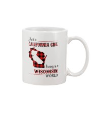CALIFORNIA GIRL LIVING IN WISCONSIN WORLD Mug thumbnail