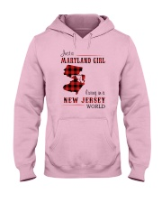 MARYLAND GIRL LIVING IN NEW JERSEY WORLD Hooded Sweatshirt thumbnail